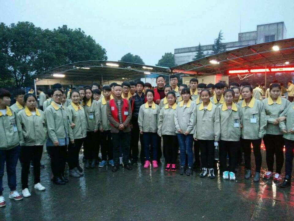 行使寒假在苏州、北京勤工俭学的同学们